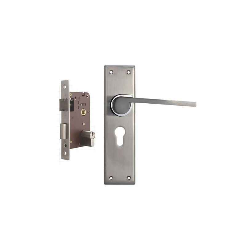 Plaza Elite Stainless Steel Finish Handle with 200mm Pin Cylinder Mortice Lock & 3 Keys