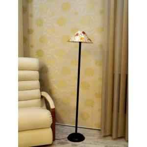 Tucasa Black Metal Floor Lamp with Multi Gold Circle Shade, LG-914