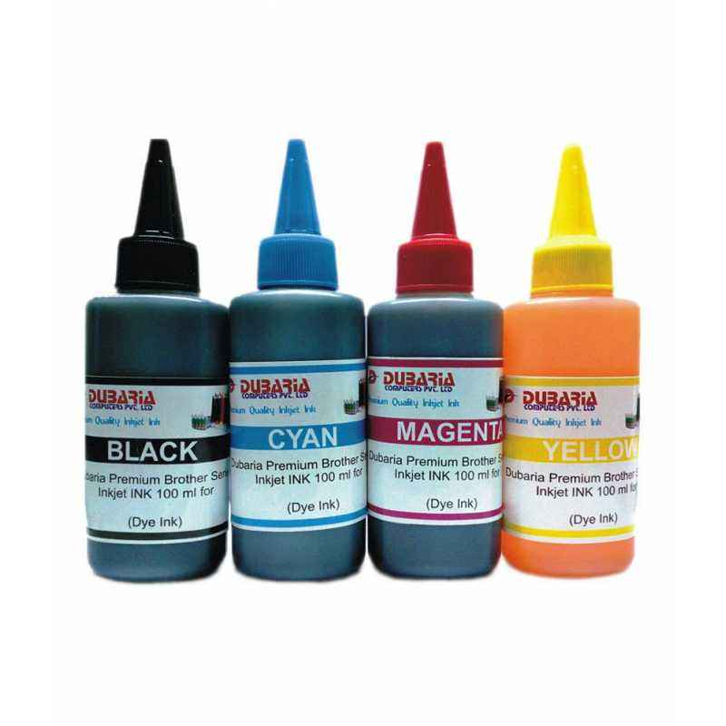 Dubaria 4 Colour Combo Premium Quality Inkjet Ink For Brother Printers