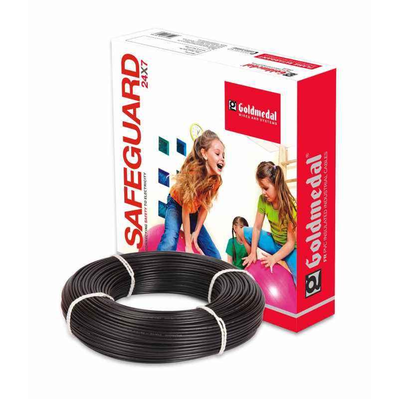 Goldmedal 90m 4 Sq mm Black FR PVC Wire