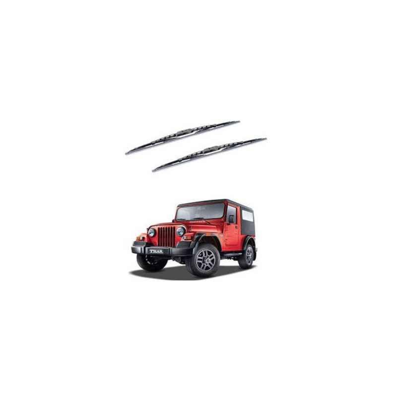 Hella WB-BK-081 Premium Black Wiper Blade Set For Mahindra Thar