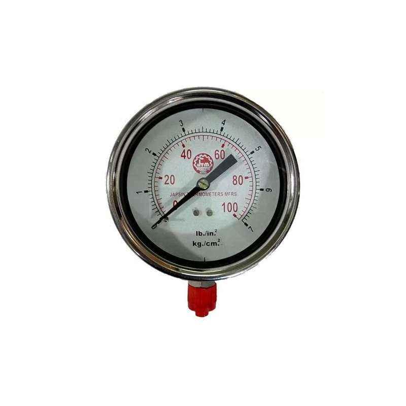 Bellstone 0-300psi Stainless Steel Silver Pressure Gauge, 5558871
