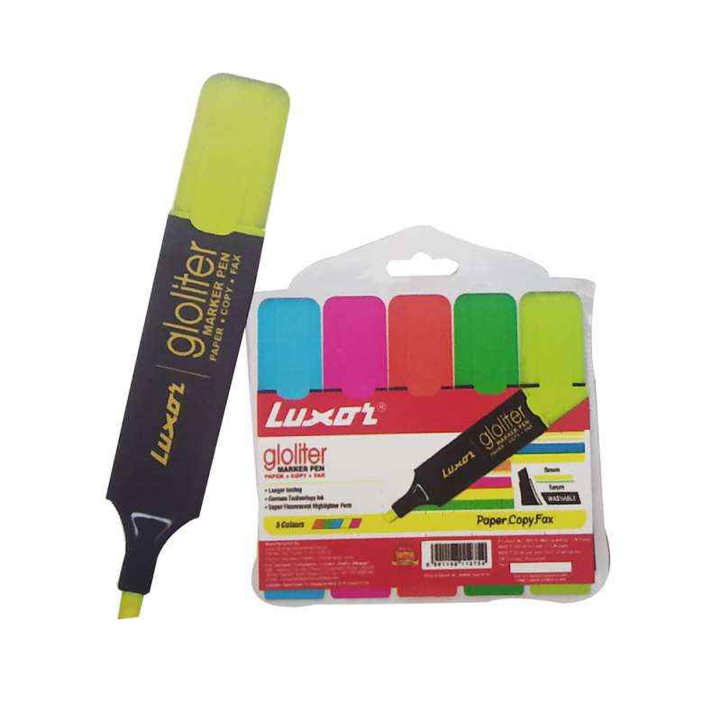 Luxor 5Pc 886 N Assorted Gloliter Pens Set