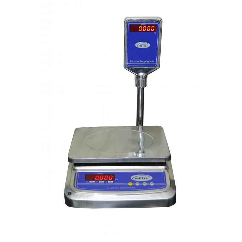 Metis Stainless Steel Counter Weighing Scale, Weighing Capacity: 10 kg