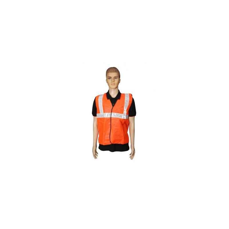 Kasa Life 2 Inch Cloth Type Orange Reflective Safety jacket, KL-2CO