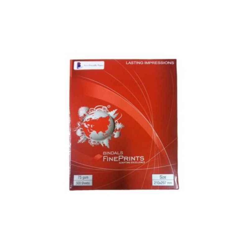 Bindal 75GSM A4 Size Fine Print Papers (Pack of 5)
