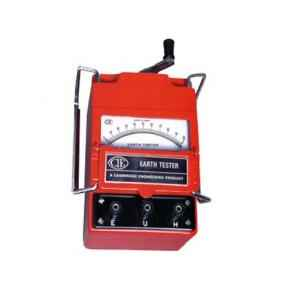 CIE 222M Triple Range Hand Driven Three Terminal Generator Type Earth Tester, Resistance Range: 0-1/10/100 Ω