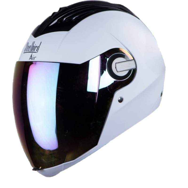 Steelbird SBA 2 Motorbike White Full Face Helmet, Size (Large, 600 mm)