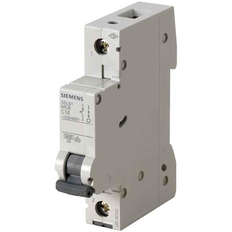 Siemens Betagard 10A Single Pole C Curve MCB, 5SL41107RC, Breaking Capacity: 10 kA