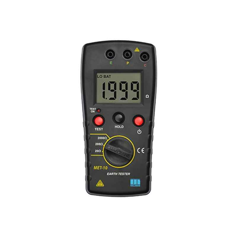 Motwane MET-10 Digital Earth Resistance Tester with 450mm Spike Kit with Test Certificate