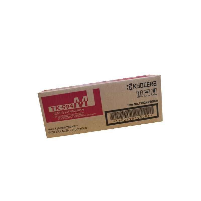Kyocera Magenta Toner Cartridge, TK 594M