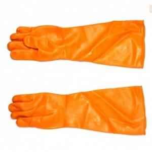 Luxmi 22 Inch Orange Rubber Gloves, LX-22 (Pack of 10)