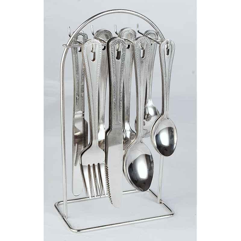 Elegante 24 Pieces Ikon Matt Stainless Steel Cutlery Set, SL-113