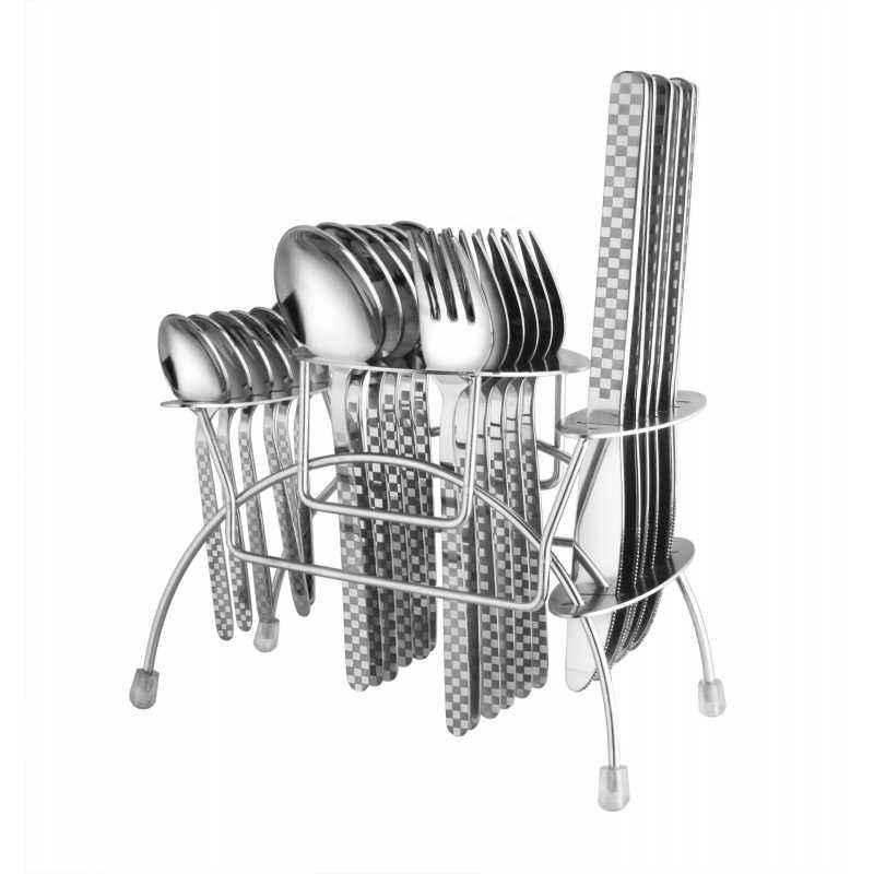 Elegante 24 Pieces Blossom Gracia Stainless Steel Cutlery Set, SL-120