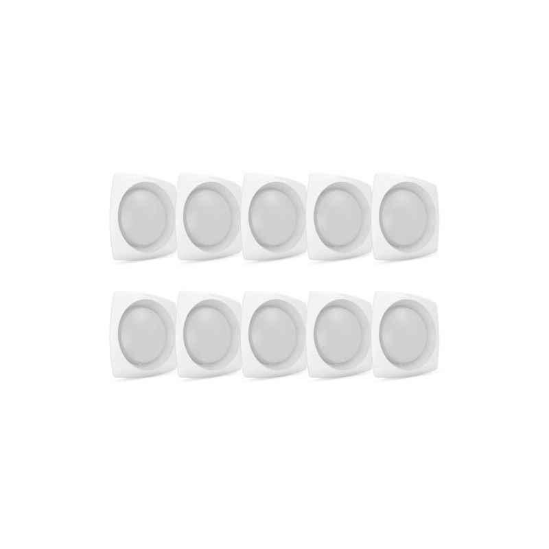 Corvi Flat 4Q 6W Easy White Dimmable LED Panel Light (Pack of 10)