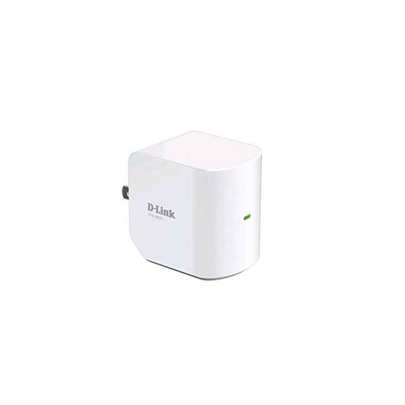 D-Link DCHM225 White Wireless Compact Wi-Fi Range Extender with Audio Streaming
