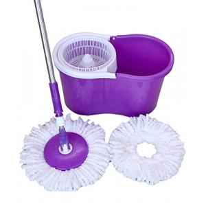 Ave 360 Degree Spin Rotating Assorted Cleaning Mop with 2 Microfiber Refill