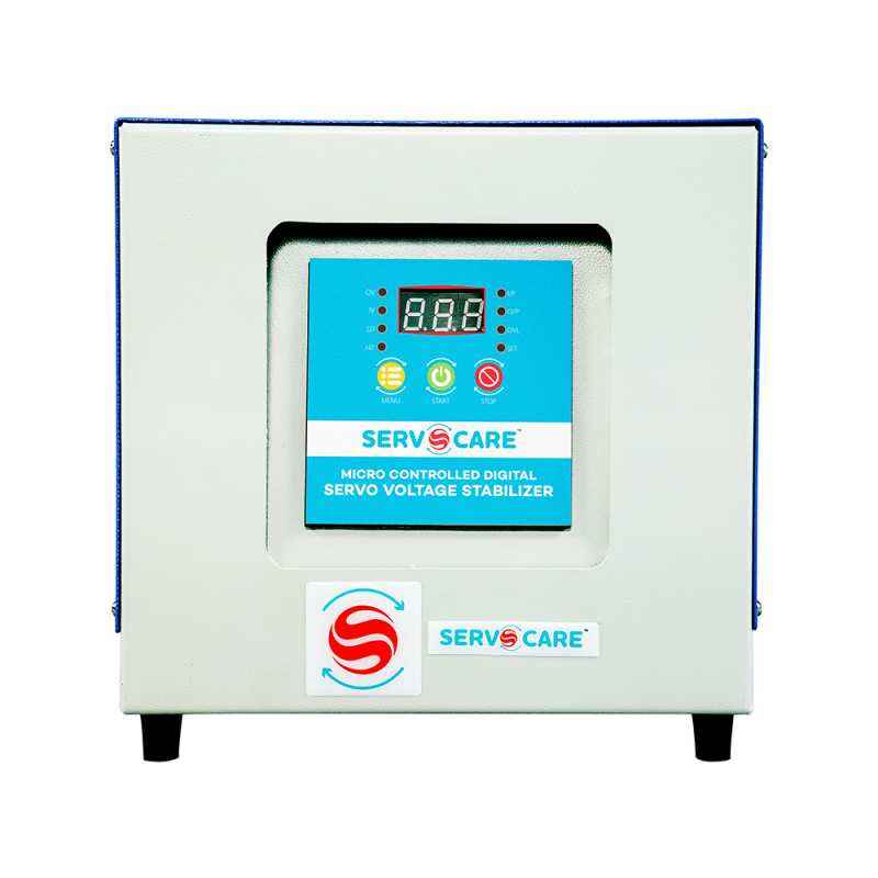 Servocare 7.5kVA Single Phase Air Cooled Servo Controlled Voltage Stabilizer