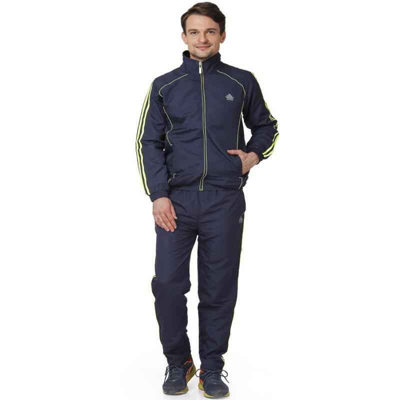 Abloom 129 Navy Blue & Parrot Green Tracksuit, Size: XXL