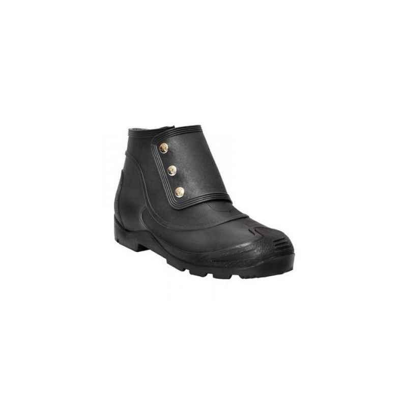 Hillson No Risk Steel Toe Black Gumboot, Size: 9 (Pack of 20)
