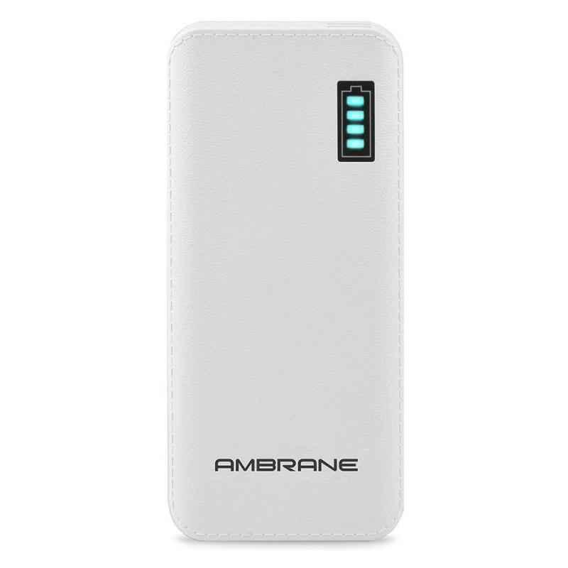 Ambrane 12500mAh White Power Bank, P-1133