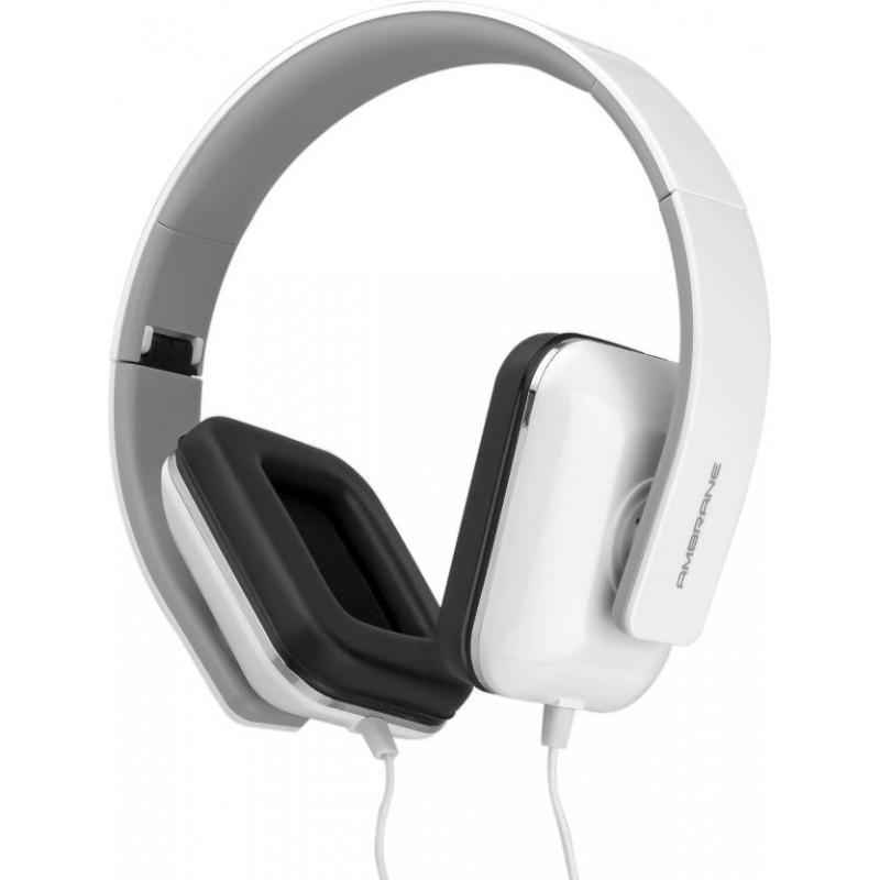 Ambrane White Explosive Bass Wired Headphone with Mic, HP-21