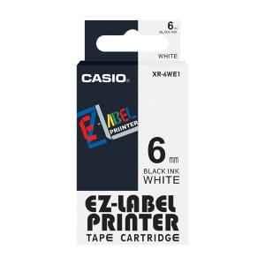 Casio XR-6WE1 Label Printer Tape Cartridge, Length: 8 m