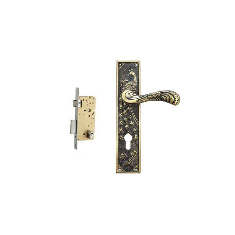 Plaza Rome Antique Finish Handle with 250mm Pin Cylinder Mortice Lock & 3 Keys