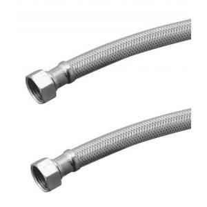 Kamal SS Braided Connection Hose 18 Inch, CNX-0872-S2 (Pack of 2)