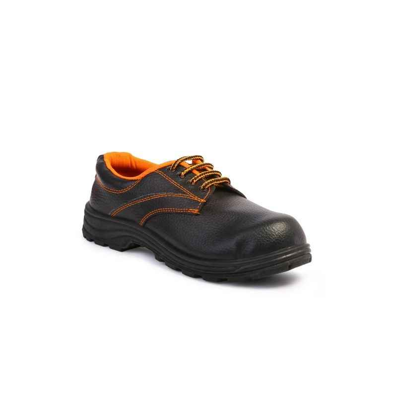 Safari Pro Safex Steel Toe Black Safety Shoes, Size: 11