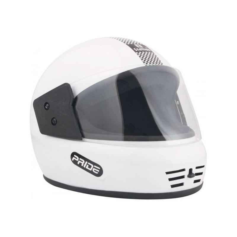 Stallion BLK Pride Decor Full Face White Motorbike Helmet, Size: M