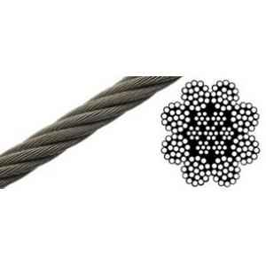 Mahadev 22mm IWRC Ungalvanised Steel Wire Rope, Size 8x19, Length: 1000 m