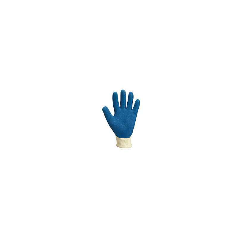 Atlas Knitted Cotton & Polyester Blue Hand Gloves, CYPRESS/GIA-002-G (Pack of 50)