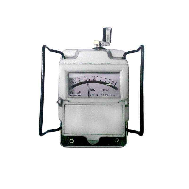 Yokins Metal 2500V Megger Hand Driven Insulation Tester, 2500 MOhms