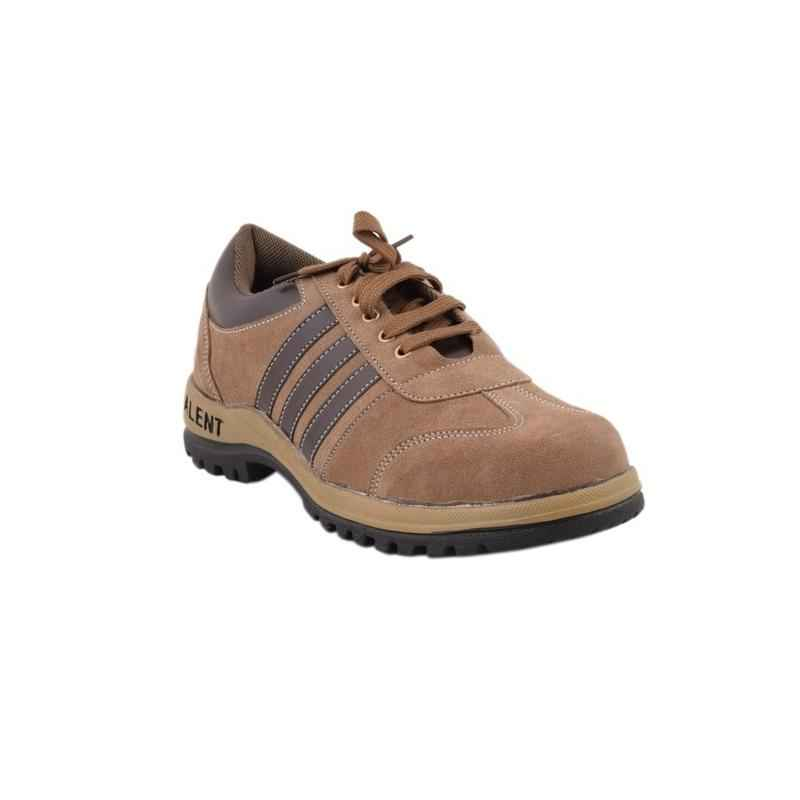 Neosafe Talent A5008 Low Ankle Steel Toe Sporty Brown Safety Shoes, Size: 7