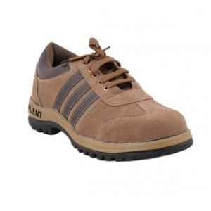 Neosafe Talent A5008 Low Ankle Steel Toe Sporty Brown Safety Shoes, Size: 9