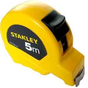 Stanley 19mm 5m Yellow Short Measuring Tape, STHT36127-812