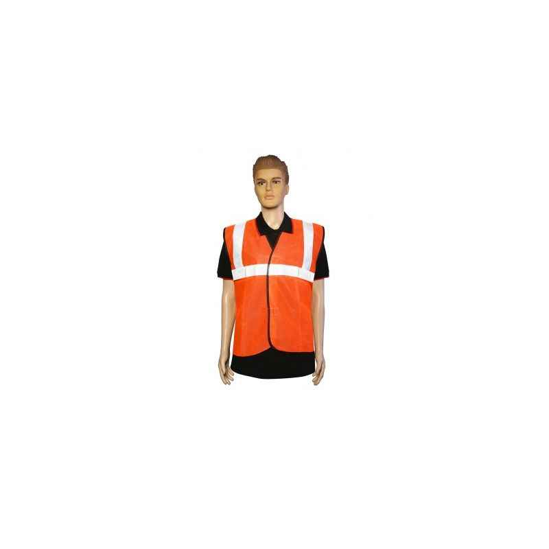 Nova Safe Orange Front Opening SL, Two Inch Tape, Cloths Safety Jacket