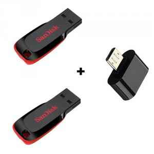 SanDisk 16 GB & 32 GB Pen Drive Combo with Free OTG Adaptor