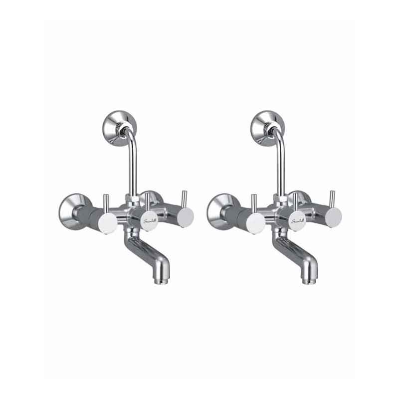 Snowbell Flora Brass 2-in-1 Wall Mixer (Pack of 2)