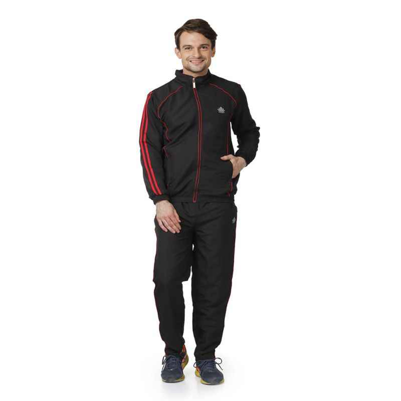 Abloom 126 Black & Red Tracksuit, Size: XXL