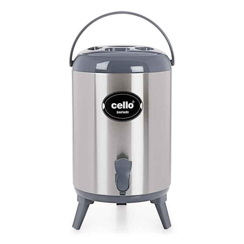 Cello Safari 8000ml Grey Stainless Steel Water Bottle