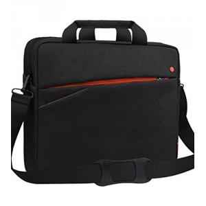 Miracase Black & Orange Toploaded Bag For 15.5 Inch Laptop