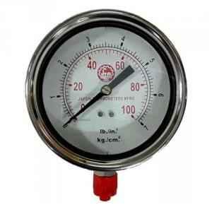 Bellstone 0-200psi Stainless Steel Silver Pressure Gauge, 7774000