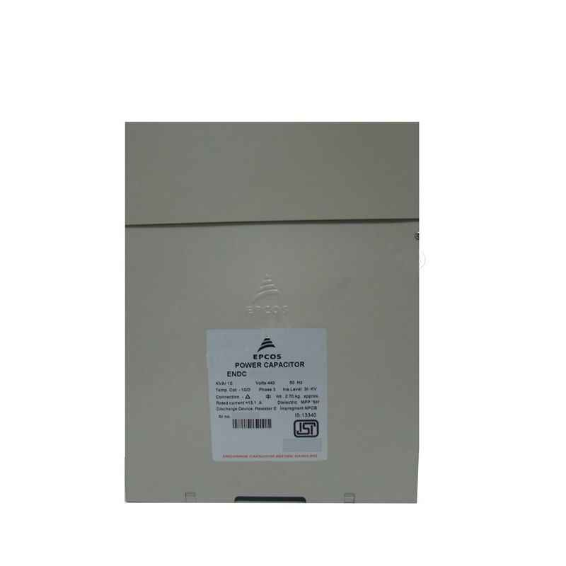 Epcos 3 Phase Square ENDC Power Capacitor, 5 Kvar