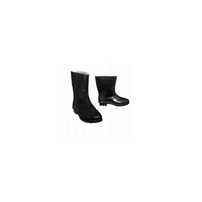 Hillson 101 Plain Toe Black Gumboots for Women, Size: 6
