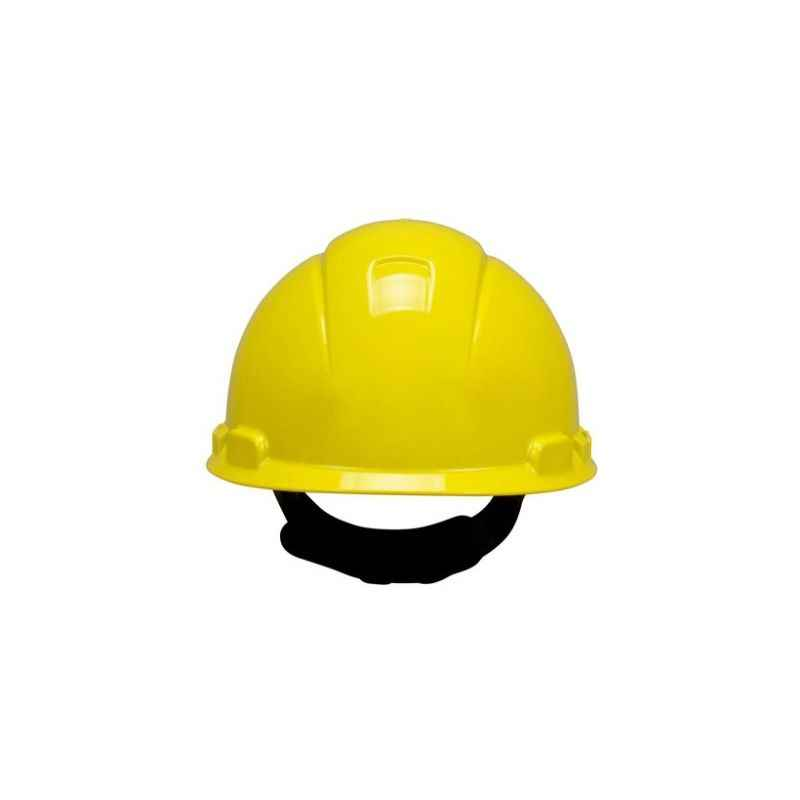 3M Yellow Plain Safety Helmets, H-400 (Pack of 10)