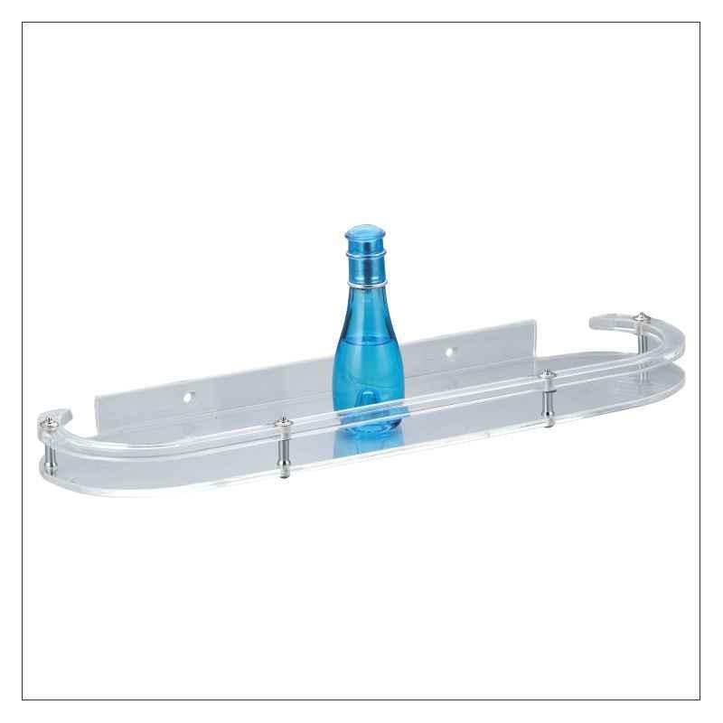 Kamal ACC-1178 12 inch PVC Acrylic Corner Shelf