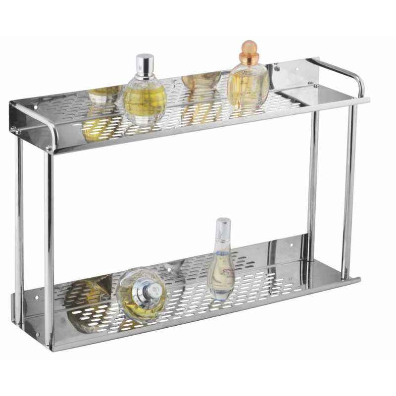 Kamal Stainless Steel Double Shelf Set (Straight), ACC-1189