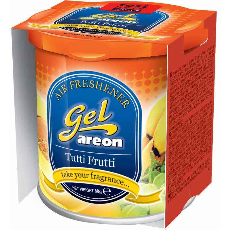 Areon 80g Tutti Frutti Gel Air Freshener For Car, GCK08